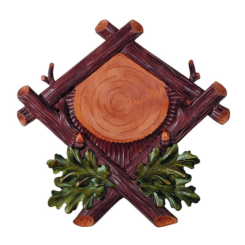 Wooden shield for deer trophy. Panel. Plaque. Antlers. 37x37cm 031901