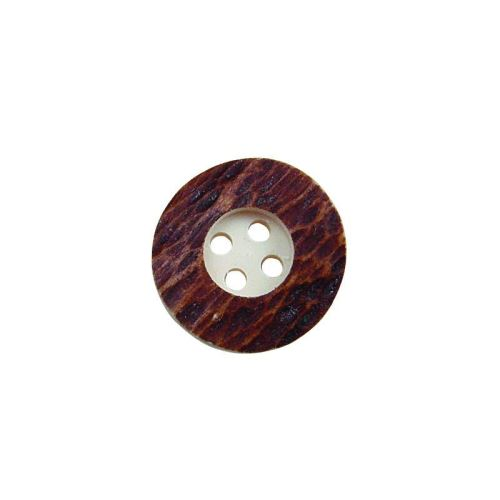 10x Button of real deer antler. Size: 20,32mm - 184932H
