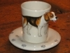 BEAGLE Espresso Coffee Cup, Blue Witch Ceramics, 3D