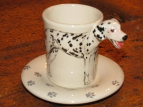 DALMATIAN Espresso Coffee Cup, Blue Witch Ceramics, 3D