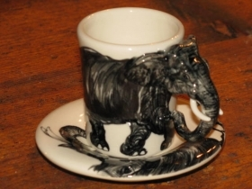 ELEFANTE Espresso Coffee Cup, Blue Witch Ceramics, 3D