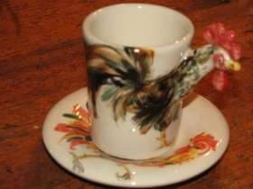 HEN Espresso Coffee Cup, Blue Witch Ceramics, 3D