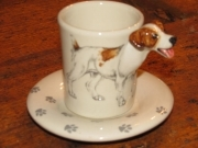 JACK RUSSELL Espresso Coffee Cup, Blue Witch Ceramics, 3D