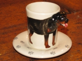 ROTTWEILER Espresso Coffee Cup, Blue Witch Ceramics, 3D