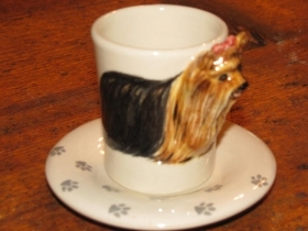 YORKSHIRE Espresso Coffee Cup, Blue Witch Ceramics, 3D