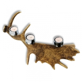 Candles holder fallow deer antler. For 3 candles. Decoration. Chalet. Fireplace. 17_32216
