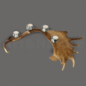 Candles holder fallow deer antler. For 4 candles. Decoration. Chalet. Fireplace. 17_32213