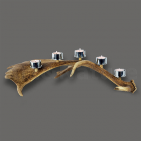 Candles holder fallow deer antler. For 5 candles. Decoration. Chalet. Fireplace. 17_32211