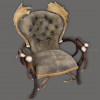 Armchair by deer and fallow deer antlers, leather, hunting, chalet, furniture - 111108