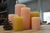 Paraffin Candle - Super quality - Duration ca. 170h - H 20cm Diam. 10cm - Salmon