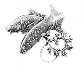 Badge metal with animal. Hunting and fishing. Hunter. Fisherman. 2653