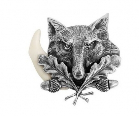 Badge metal with animal. Hunti