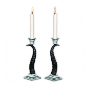 Pair candles holder with real