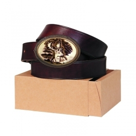 Leather belt 40mm. Buckle with