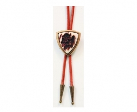 Tie with real deer antler. Leather cord. 176602