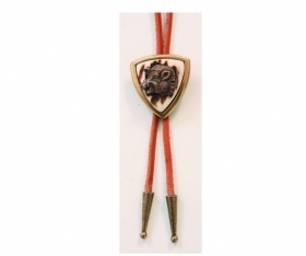 Tie with real deer antler. Leather cord. 176603