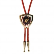 Tie with real deer antler. Leather cord. Bolo-Tie 176609