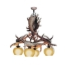 Chandelier with real fallow deer antlers. 4xE27 M: 60x60x80cm 1504