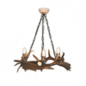 Chandelier with real fallow de