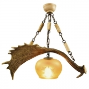 Chandelier with real fallow deer antlers. 1xE27 M: 60x30x50cm 152901