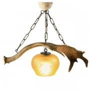 Chandelier with real fallow deer antlers. 1xE27 M: 60x30x50cm 152902