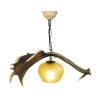 Chandelier with real fallow deer antlers. 1xE27 M: 60x30x50cm 152904
