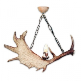 Chandelier with real fallow deer antlers. 1xE14 M: 60x30x50cm 152903