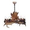 Chandelier with real fallow deer antlers. 6xE14 M: 80x80x75cm 157501