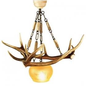 Chandelier with real deer antlers. Lighting. 1xE27 M: 50x50x55cm 1530