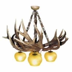Chandelier with real deer antlers. Lighting. 4xE27 M: 95x95x90cm 151401