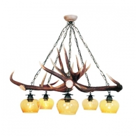 Chandelier with real deer antlers. Lighting. 5xE27 M: 85x85x85cm 152601
