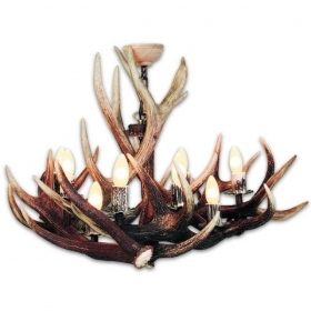 Chandelier with real deer antlers. Lighting. 6xE14 M: 90x90x70cm 153902