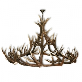 Chandelier with real deer antlers. Lighting. 10xE14 M: 150x150x100cm 15720