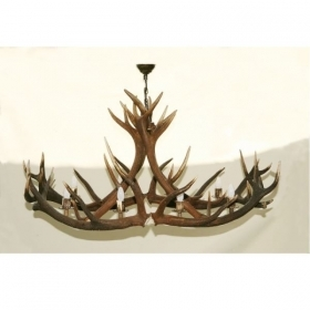 Chandelier with real deer antlers. Lighting. 8xE14 M: 160x80x90cm 1568