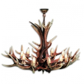 Chandelier with real deer antlers. Lighting. 10xE14 M: 155x155x90cm 154003