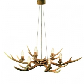 Chandelier with real deer antlers. Lighting. 6xE14 M: 90x90x80cm 154204