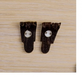 10x Button of real deer antler. Size: 30mm - 1856
