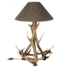 Lamp with real sika deer antlers. NO Lampshade. 159602