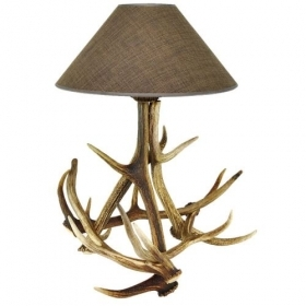 Lamp with real deer antlers. NO Lampshade. 1596021