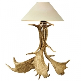 Lamp with real fallow deer antlers. NO Lampshade. 159601