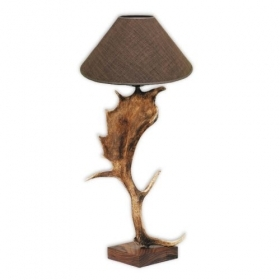 Lamp with real fallow deer ant
