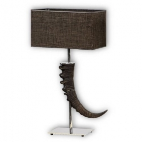 Lamp with real ibex horn. NO Lampshade. 100112