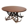Table with real red deer antlers. 125x80cm x H 57cm - 116606