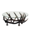 Table with real red deer antlers. 110x70cm x H 46cm - 116611