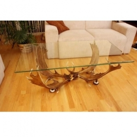 Table with real fallow deer an
