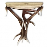 Table with real red deer antlers. 60x25cm x H 76cm - 117701 D12
