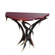 Table with real red deer antlers. 90x30cm x H 75cm - 117703