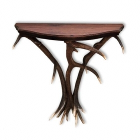 Table with real red deer antlers. 90x30cm x H 75cm - 1177031