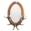 Mirror with real red deer antlers. Lighting. 2xE14 M: 120x80cm 118804