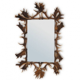 Mirror with real fallow deer antlers. M: 160x110cm 118809
